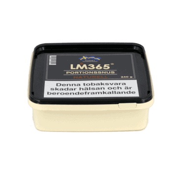 LM365 Portionssnus Naturell Snussats 240gram - Beställ från Kungssnus webbutik