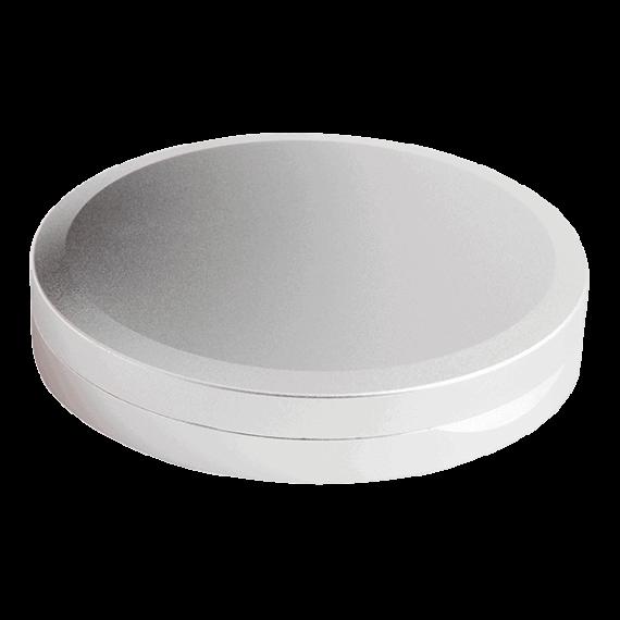 Undersida av aluminiumdosa DUS för portionssnus i slimmad form - Beställ från Snusfabriken.com