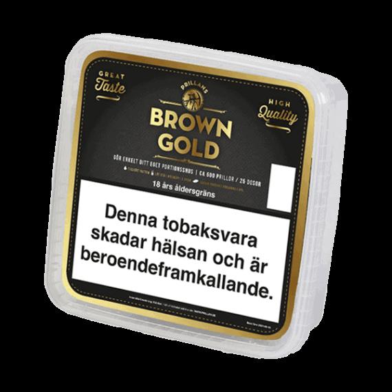 Prillan Brown Gold Portion 500 styck - Köp från Snusfabriken.com