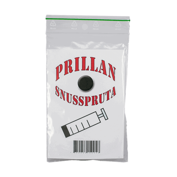 Snusspruta från Prillan i enkelt format - Beställ från Snusfabriken.com