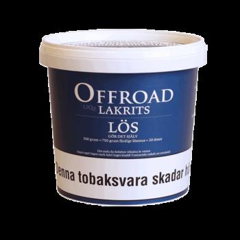 Offroad Lakrits Lös 500gram snussats från V2 - Beställ från Snusfabriken.com