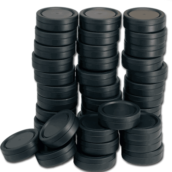 Tomma snusdosor i svart plast med lock som sitter bra - Beställ från Snusfabriken.com