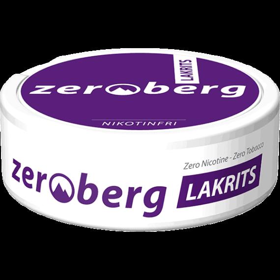 Zeroberg Lakrits Nikotinfritt Portionssnus