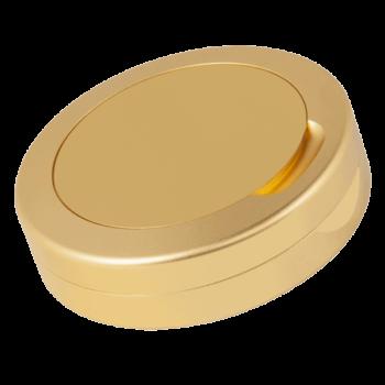 Guld aluminiumdosa DUS för portionssnus i fullsize format - Beställ från Snusfabriken.com