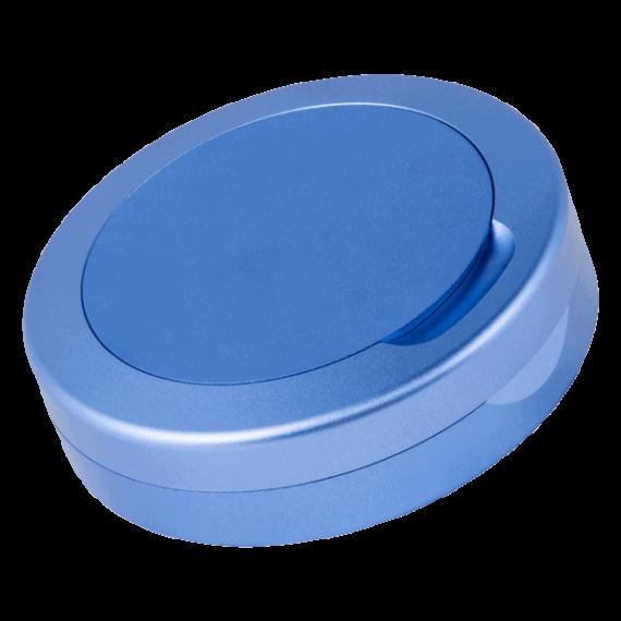 Blå aluminiumdosa DUS för portionssnus i fullsize format - Beställ från Snusfabriken.com