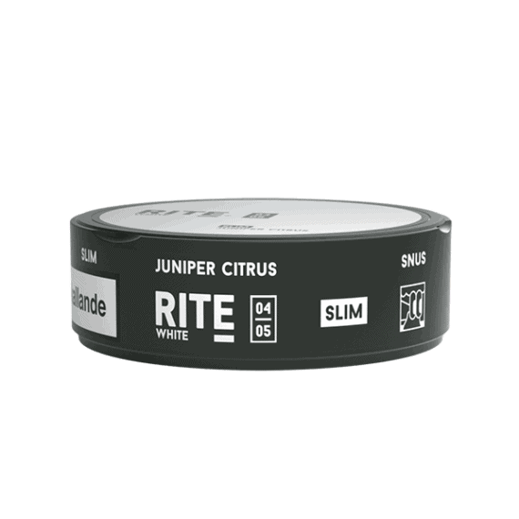 Rite Juniper Citrus White Slim Portionssnus