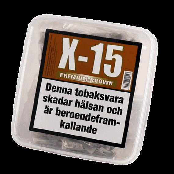 X-15 Premium Brown Stark Portionssnus