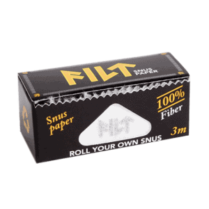 FILT Snuspapper Med detta papper kan du enkelt göra en portionssnus enligt dina egna önskemål. Snabbt, Billigt och enkelt. Köp den hos Snusfabriken.com