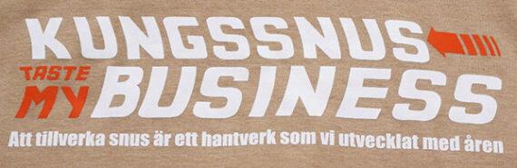 Texten på t-shirt