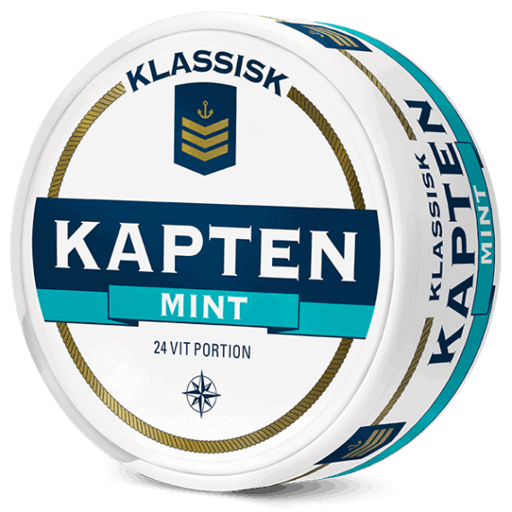 Kapten Mint Extra Stark Vit Portion