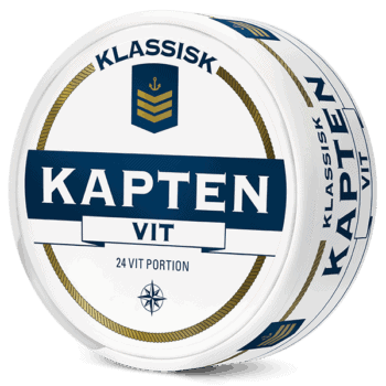 Kapten Klassisk Vit Portion