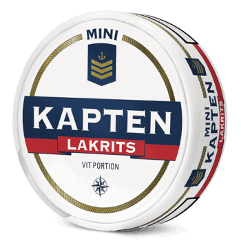 Kapten Mini Lakrits Vit Portion