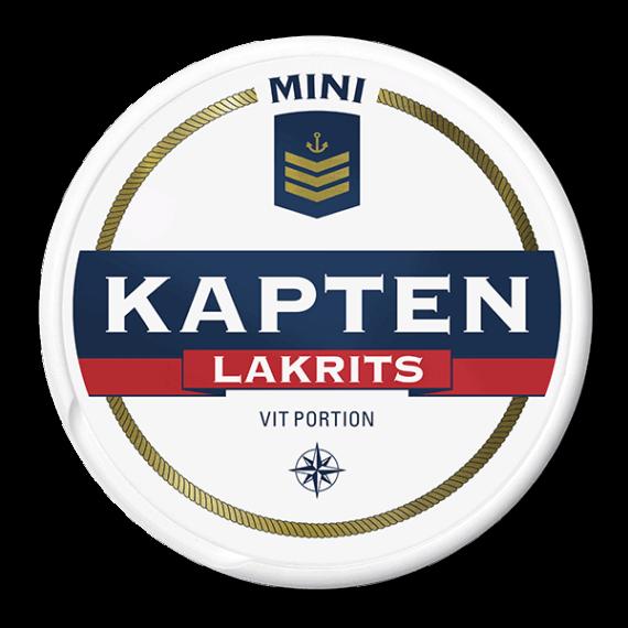 Kapten Mini Lakrits Vit Portionssnus