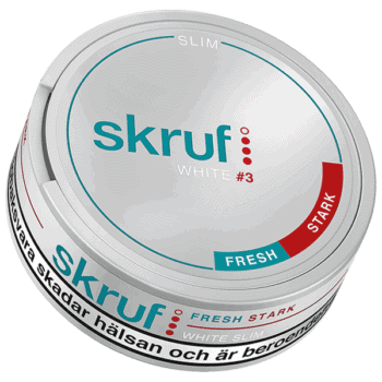 Skruf Fresh Stark Slim White Portion