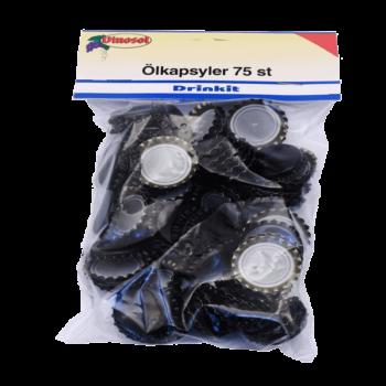 Ölkapsyl Svart 75-pack