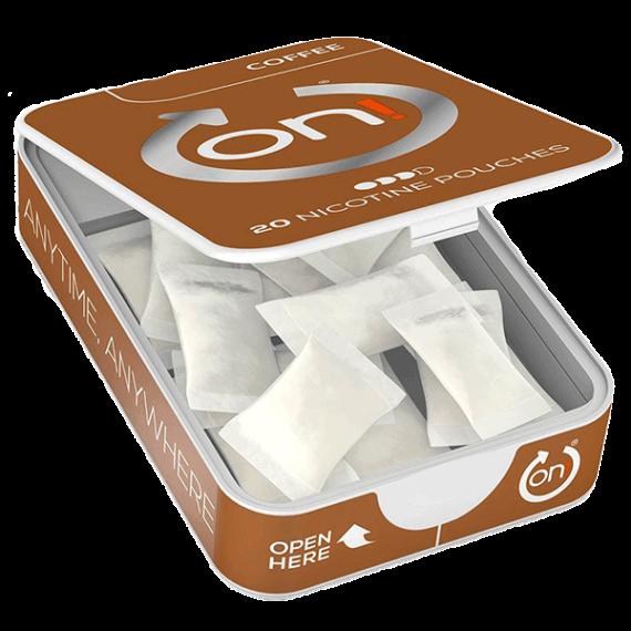All White-snus i miniformat med smak av nyrostat kaffe