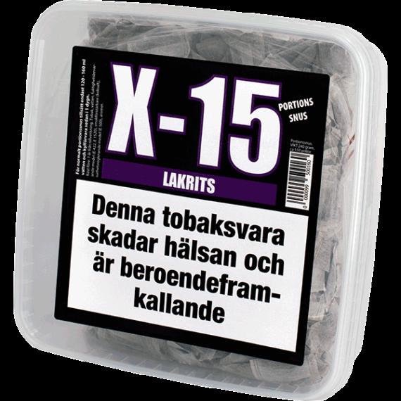 X-15 Lakrits Portionssnus