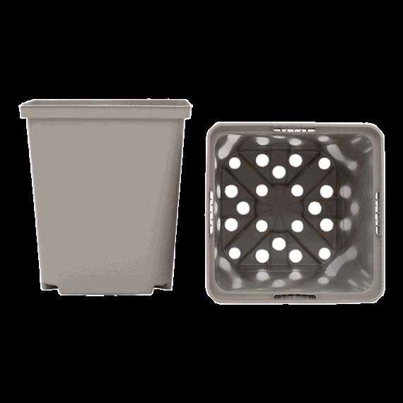 Fyrkantig plastkruka 11cm 25-pack - Beställ från Snusfabriken.com