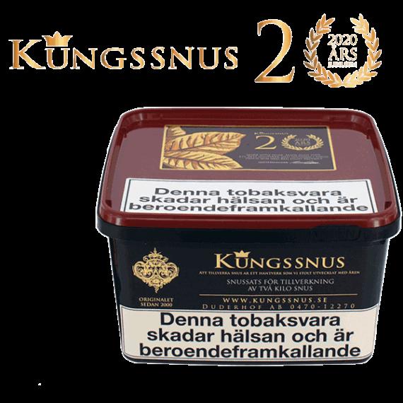 Kungssnus Jubileumssnus 2020 - Snussats, säljs exklusivt hos oss på Snusfabriken.