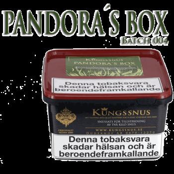 Pandoras Box Batch 004 från Kungssnus för snustillverkning av eget snus hemma. Enkelt, billigt och bra resultat.