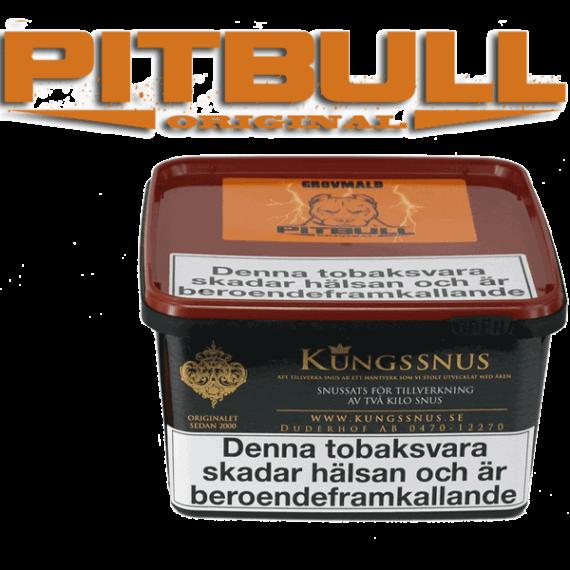 Snussats Pitbull Original Grovmald från Kungssnus för snustillverkning av eget snus hemma. Enkelt, billigt och bra resultat.